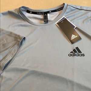 Adidas athletic tee shirt size xl grey NWT